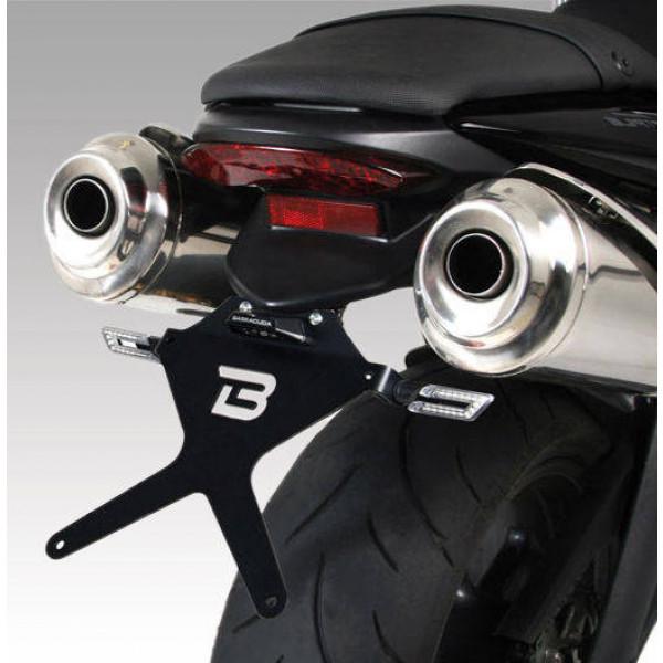 SUPPORT DE PLAQUE INCLINABLE TRIUMPH STREET TRIPLE R 2012